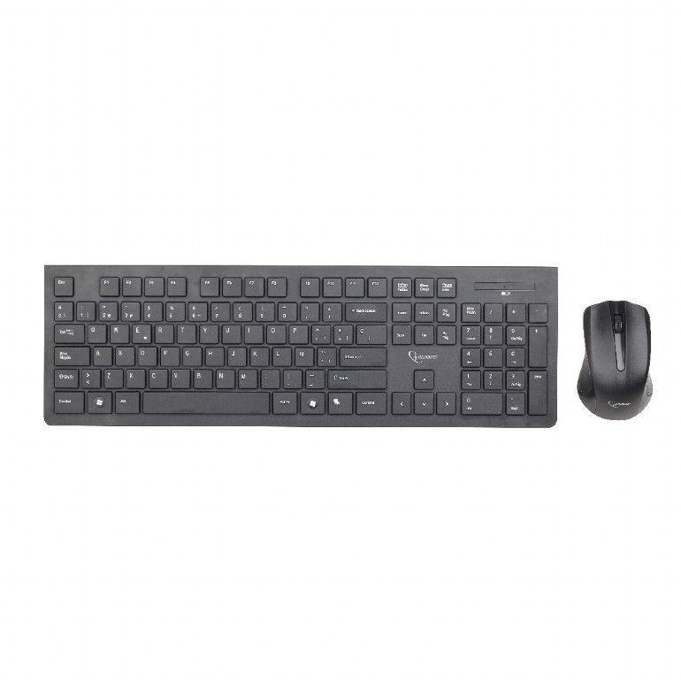 """კლავიატურა Gembird KBS-WCH-01-RU Wireless """"chocolate"""" desktop set, RU layout"""