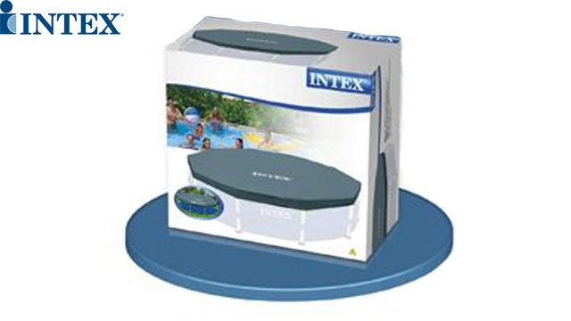 კარკასული აუზის ტენტი Intex 12' Round Frame Set Easy Swimming Pool Debris Cover 28031