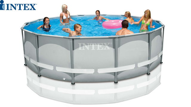 კარკასული აუზი Intex 28310 Ultra Frame Pool Set 427 x 107 cm - ფილტრით