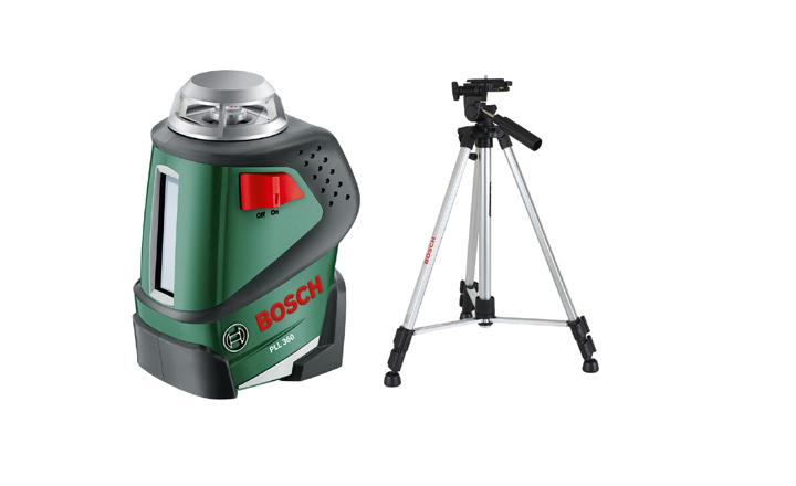 ნიველირი + შტატივი აზომვითი სამუშაოებისათვის Bosch PLL 360 SET