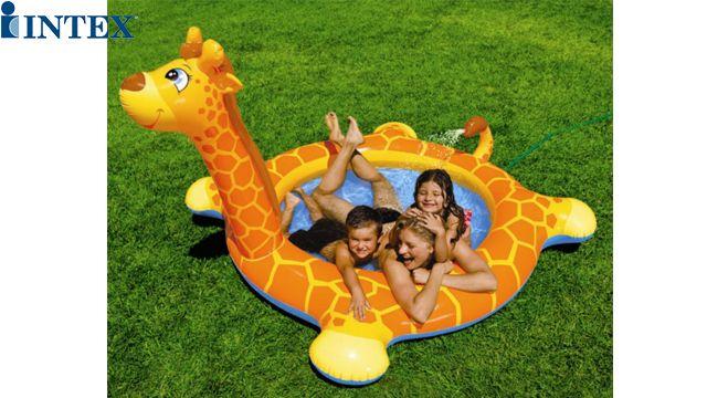 აუზი INTEX 57434 Inflatable Giraffe Pool 208 x 165 x 122 cm