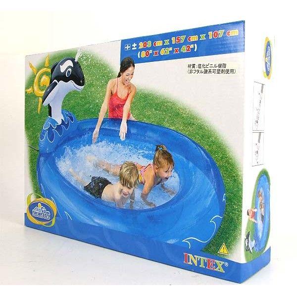 აუზი საბავშვო დელფინი-შავი 2.0X1.6X1.1 - INTEX