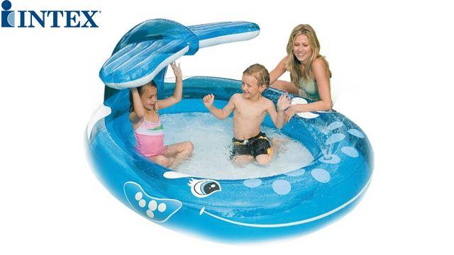 საბავშვო აუზი INTEX 57435 Whale with shower 208x157x99 cm