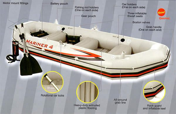 გასაბერი ნავი INTEX Mariner 68376