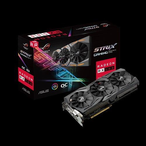 ვიდეო დაფა ASUS ROG-STRIX-RX580-O8G-GAMINGOC Edition GDDR5 DP HDMI DVI VR Ready AMD Graphics Card