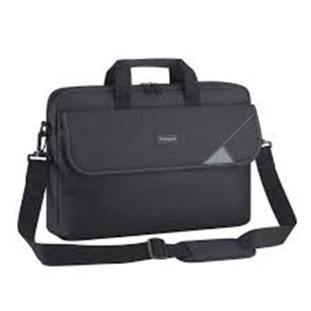 """ნოუთბუქის ჩანთა Targus Intellect Fits up to size 15.6 """", Black/Grey, Shoulder strap, Messenger - Briefcase"""