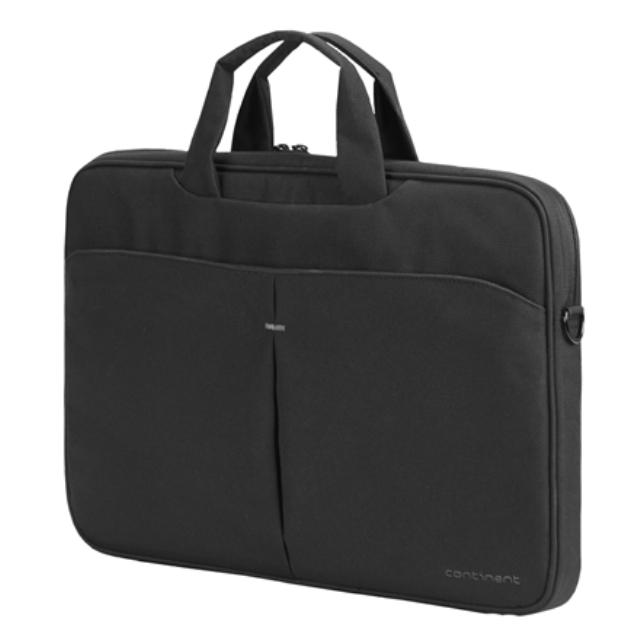 """ნოუთბუქის ჩანთა Continent Notebook brief CC-012 Fits up to size 16 """", Black, Shoulder strap, Messenger - Briefcase"""