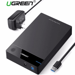 მყარი დისკის ქეისი UGREEN US222 (50422) USB 3.5 INCH HDD ENCLOSURE SSD SATA USB 3.0 POWER ADAPTERiMart.ge