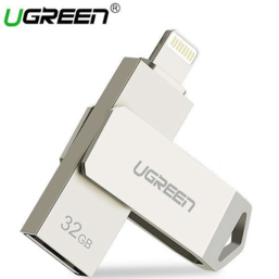 USB ფლეშ მეხსიერება UGREEN US200 (30616) USB FLASH DRIVE 32 GB FOR IPHONE X 8 7 6 5 USB 3.0 LIGHTNING PEN DRIVE APPLE MFI U DISK FOR iOS 11 MEMORY STICK 128 GB USB FLASH DRIVE PENDRIVEiMart.ge