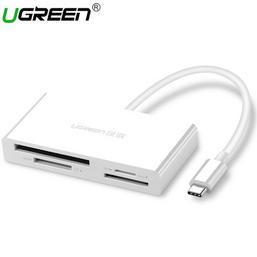 ბარათის წამკითხველი UGREEN CM102 (40745) 4-In-1USB-C Card Reader TF/SD 4.0iMart.ge