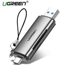 ბარათების წამკითხველი UGREEN  50706 Card Reader USB 3.0 SD/Micro SD TF OTG Card Adapter for Laptop USB 3.0 Type-CiMart.ge
