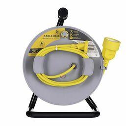 დენის დამაგრძელებელი კაბელი 2E CABLE REEL 1XCEE7/17, ІР20, 2G*1.0mm, 20m, GRAY-YELLOWiMart.ge