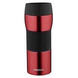 თერმოსი ARDESTO TRAVEL MUG   EASY TRAVEL 450 ML, RED ,SILOCONE, S/SiMart.ge