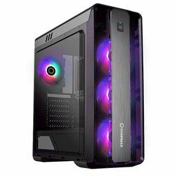 კომპიუტერის ქეისი GAMEMAX MOONLIGHT BLACK,MidT,1*USB3.0, 2*USB2.0,4*120 Blue, ACRYLIC (SIDE PANEL), WITHOUT PSU, BLACKiMart.ge