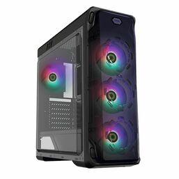 კომპიუტერის ქეისი GAMEMAX STARLIGHT BLACK FRGB,MidT,1*USB3.0,2*USB2.0,4*120FRGB,ACRYLIC (SIDE PANEL), WITHOUT PSU, BLACKiMart.ge