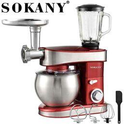 სამზარეულო კომბაინი (ბლენდერი, მიქსერი, ხორცსაკეპი) SOKANY SC-213C (1200 W, 6.5 ლიტრი, სიჩქარის 6 რეჟიმი)iMart.ge