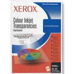 საოფისე ქაღალდი (ფირი ლაზერული ბეჭდვისთვის) XEROX PAPER COLOR INKJET TRANSPARENCIES A4 TYPE L 003R91333iMart.ge